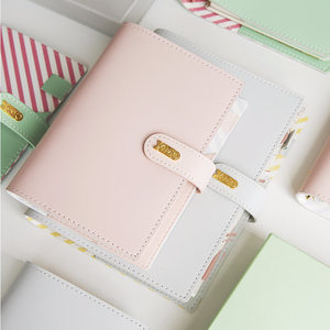 Image 2 - Yiwi Macaron PU Leather Spiral Notebook Original Office Personal Diary Planner Agenda Organizer Cute 30mm Ring Binder A5 A6