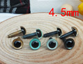 Free shipping!! 4,5mm Straight leg  High quality crystal round toy eyes-50pairs