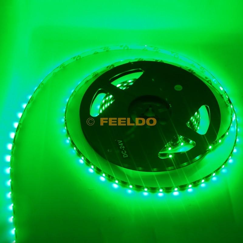 FEELDO 24V 500cm 5 метра 3528 1210 SMD 300 Leds - Автомобилни светлини - Снимка 2