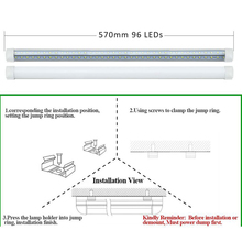 1 PCS V-Shape Integrated LED Tube Lamp 20W T8 570mm 2FT LED Bulbs 96LEDs Super Bright Led Fluorescent Light bombillas led 2000lm