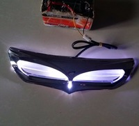Black LED Motorcycle Faring Vent Trim For Harley Electra Glide Ultra Classic Limited Low Road Glide