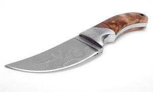 Image 5 - חם להב קבוע ציד סכין חד 440 להב חיצוני הישרדות סכין עץ ידית קמפינג טקטי אולר משלוח חינם