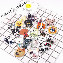 1 stks Hond Badge Harajuku icoon Acryl Pin Badges broches Anime kleding Rugzak Pins Rozet Kraag Sjaal Revers Accessoires(China)