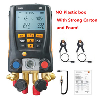 Testo 557 Refrigeration Gauge Digital Manifold Kit for with Clamp Probe with Bluetooth external vacuum gauge without Plastic Box