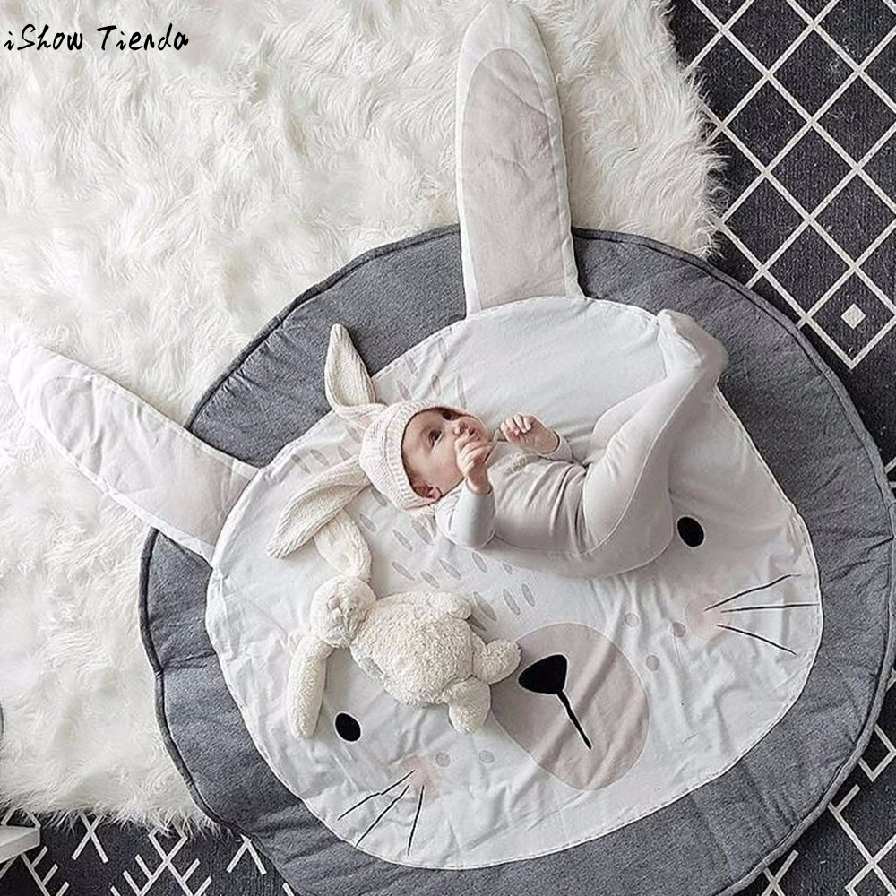 Baby blanket cartoon cat pattern baby infant creeping mat for Baby room decoration game