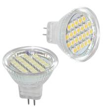 JYL 2pcs 1W MR11 24 SMD LED Cabinet Spot Light Lamp Bulb Spotlight  12V AC 80LM White /Warm