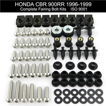 цена For Honda CBR 900RR 1996-1999 Motorcycle Complete Fairing Bolts Kit Covering Bolts Clips Nuts Stainless Steel