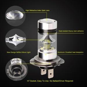 Image 4 - 2 sztuk światła przeciwmgielne samochodu H7 żarówka LED Super Bright 12V 24V 6000K biały 20 3030SMD jazdy reflektor do jazdy dziennej Auto Led H7 żarówki