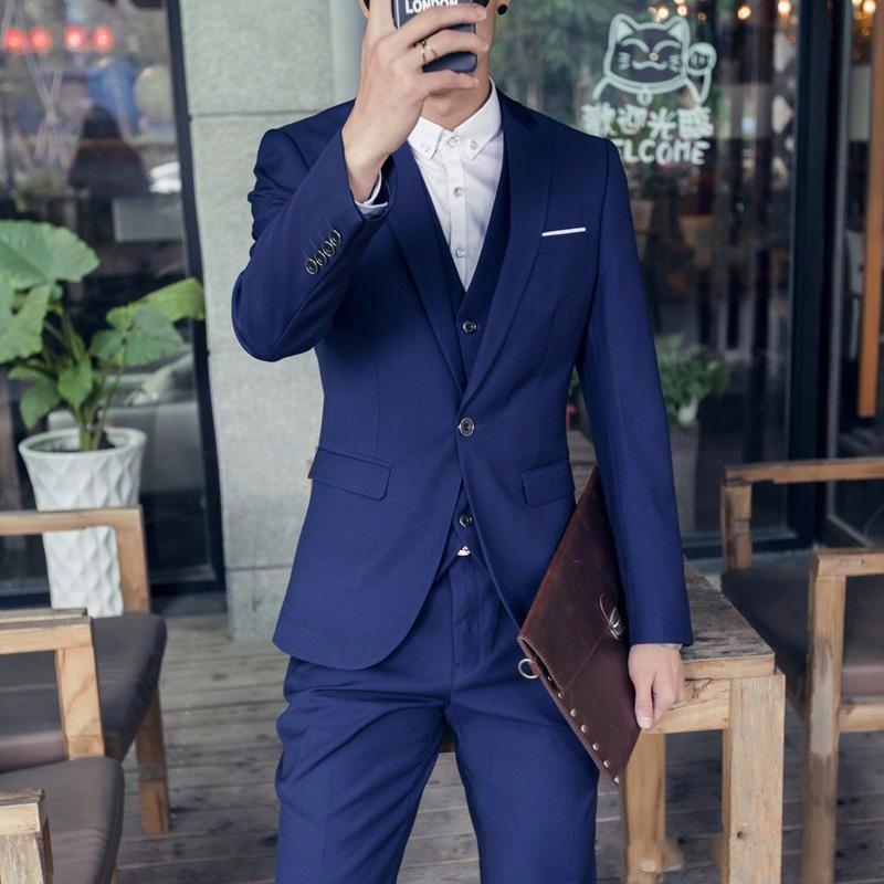 (Jackets+Vest+Pants) New Burgundy black Men Suits Slim Fit Tuxedo Brand Fashion Bridegroon Business Dress Wedding black Suits Blazer (3)_conew1