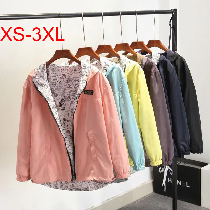 Woxingwosu girl's parkas,Both sides wear, equal two jackets,lose thin type,short coat size XS to 3XL