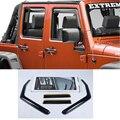 Accesorios de coches Ventana Vent Visor Deflector de Viento Protector De Lluvia para 4 puertas y 2 puertas Jeep Wrangler 2007 08 09 10 11 12 13 14 15