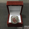 Free Shipping 2015 Oklahoma Sooners Big 12 Championship Ring, New Arrival Hot Sale Christmas Gift Sports Ring For Men