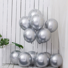 ABDO 24Pcs 12Inch Pearl Metal Latex Balloons 3.2g Thick Chrome Metallic Inflatable Helium Wedding Birthday Decoration