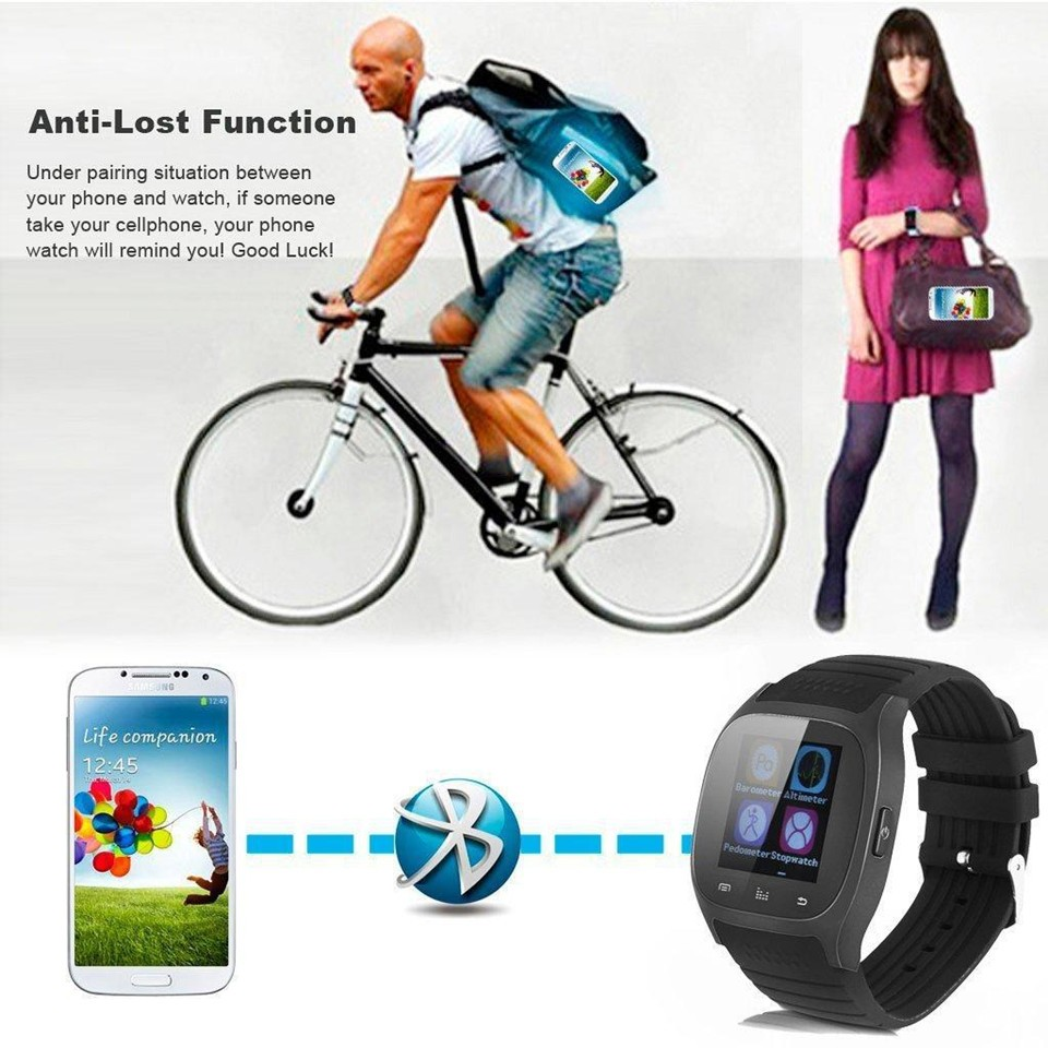 Bluetooth Wrist Smart Watch M26 Smartwatch Call Music Pedometer Fitness Tracker For Android black one size 5