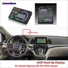 Liandlee Car HUD Head Up Display For Honda Odyssey 5th RC1RC2 chassis 2013-2018 Safe Driving Screen OBD Projector Windshield