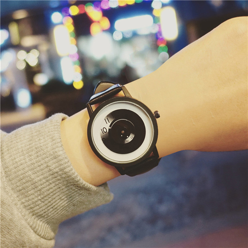 Fashion Women's Watch Simple And Creative Trends Couple Lovers Black Strap Watch Casual Vintage Bracelet relogio feminino #50 cloud computing trends and performance issues