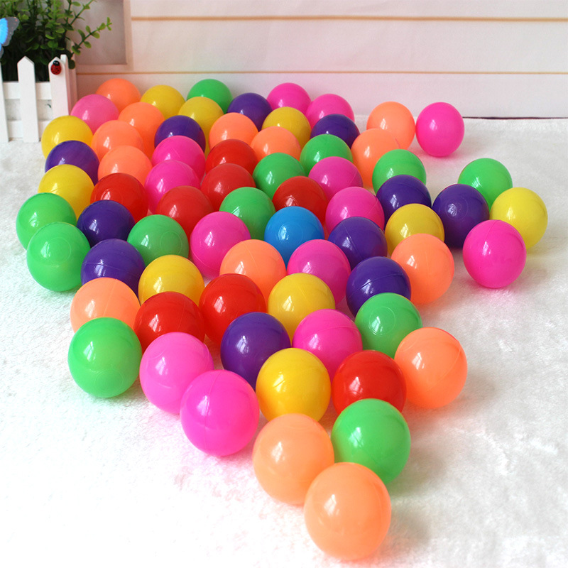 50Pcs/Bag Hot 7 Colors 5.5cm/7cm/8cm Colorful Ocean Ball Safe Baby Toy Ball For Baby Kids Play Tents Ball Pits Pool