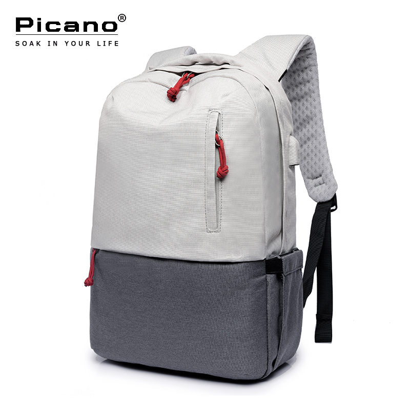 Picano Waterproof Backpack USB Charging School Notebook Backbags Men Women Minimalist Air Cushion Tourist Laptop Rucksack