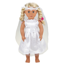 Doll Wedding Party Evening Dress Accessories 1/6  Clothes Set For America Girl 18 inch Our Generation Doll Outfit Baby Doll New цены