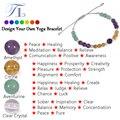 A&N Handmade Chakra Beaded Bracelet Natural Amethyst Citrine Aventurine Clear Crystal Colorful Healing Bracelets Cute Bracelets