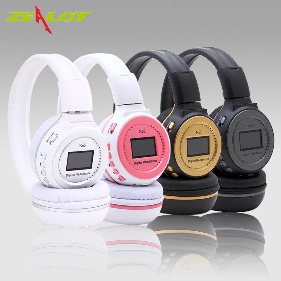Original Zealot N65 Headphones 3.5mm SD Card MP3 Headphone Headset Gaming Digital Wireless Headphone N65 Stereo Headphone7Colors