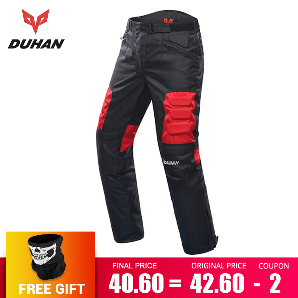 DUHAN Motorcycle Pants Men Moto Motocross Pants Enduro Riding Trousers Motocross Off-Road Racing Sports Knee Protective Trousers riding tribe motorcycle pants racing trousers windproof men scasual pants wear resistant protective knee sports motorcross pants