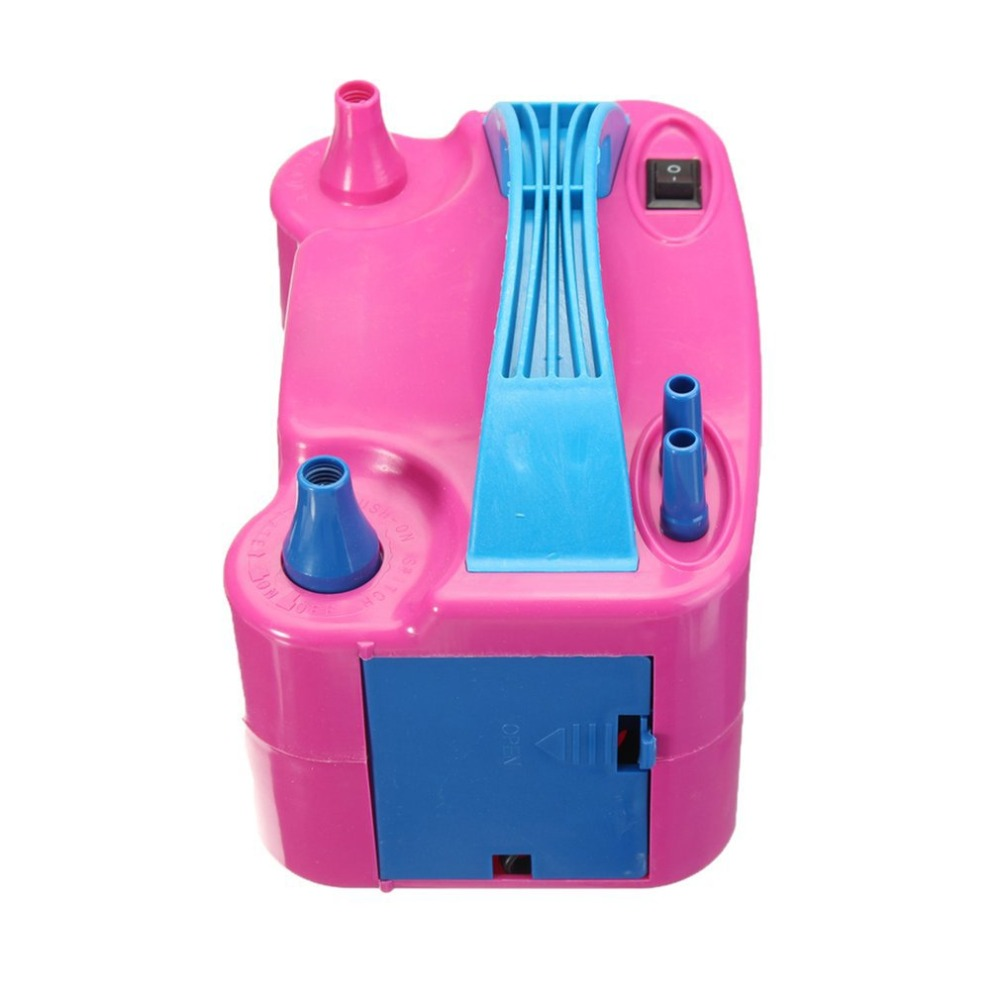 Image 4 - 220V Double Hole AC Inflatable Electric Air Balloon Pump Electric Balloon Inflator Pump Portable Air Blower-in Inflatable Pump from Automobiles & Motorcycles