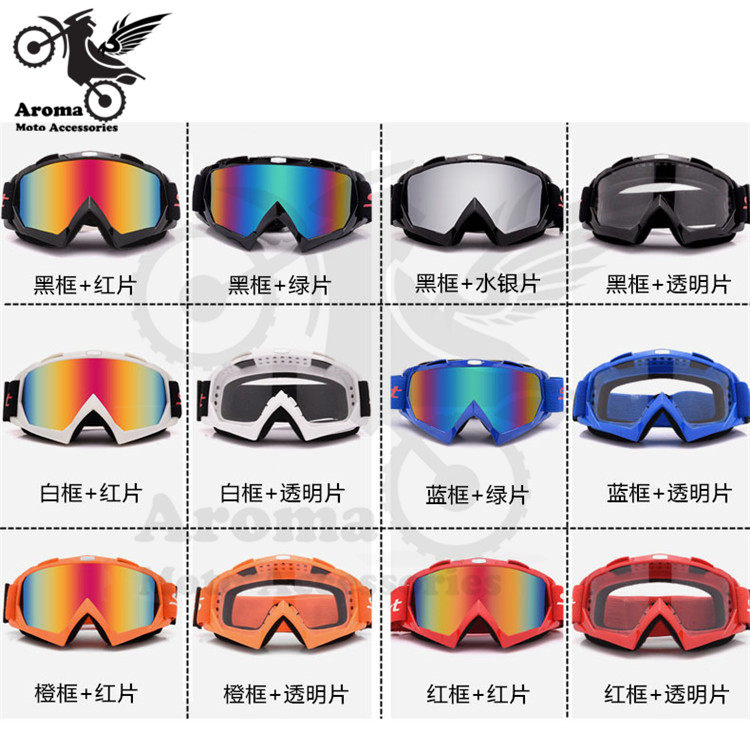 high quality Windproof motocross Goggles Clear motorbike glasses riding Ski Goggles bicycle Snowboard Goggles motorcycle Goggle