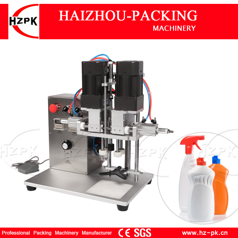 HZPK Desk Type Capping Machine For Duckbill Cover Pinnacle Cap Screwing Machine Tabletop Capper Semi automatic