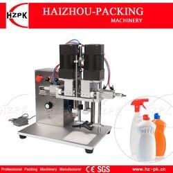 HZPK półautomatyczny blat elektryczny i powietrzny plastikowy szklany kaczy dziób przykręcana pokrywa Cap Capping biurko handlowa maszyna pakująca