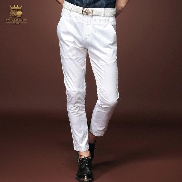 7a3ab05809a4a € 41.16 |Gratuit Shippingnew mode Masculine homme casual Slim 2015 d'été  hommes de neuvième pantalon blanc jeans personnalité 15828 sur vente ...