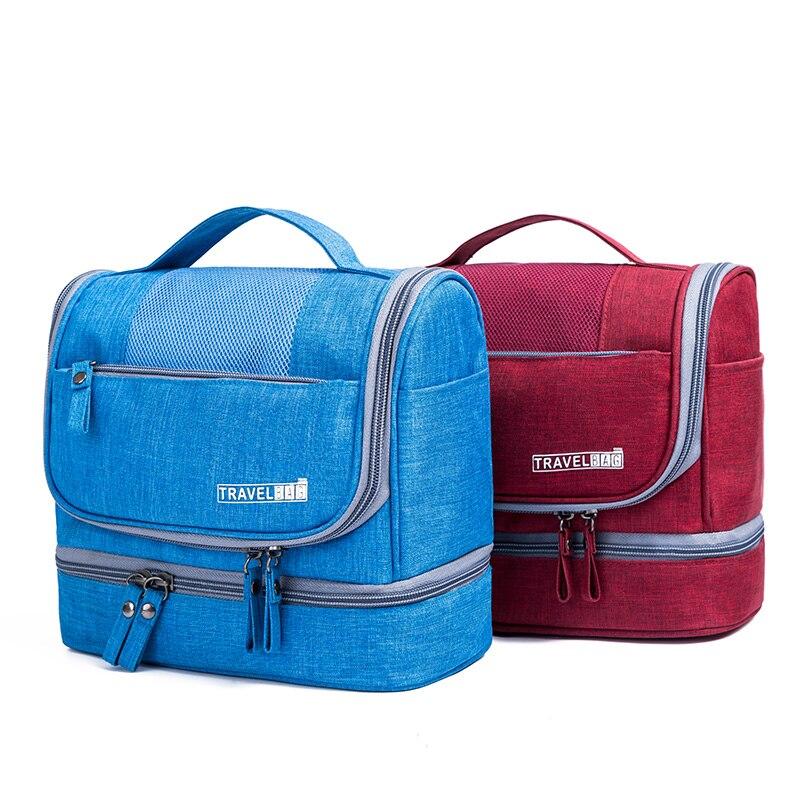 Купить с кэшбэком Portable Women Cosmetics Cases Toiletry Bag Travel Organizer Unisex Hanging Makeup Bag Travel Make up Kit