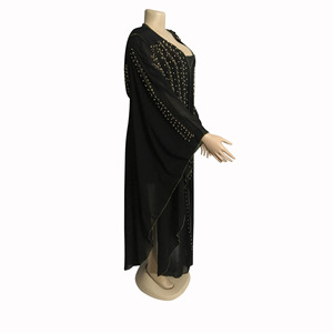 Image 5 - Beading Africa Clothing African Dresses For Women Muslim Robe Long Dress High Quality Length Fashion African Dress Lady