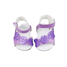 18-inch Doll Shoes-My Little Baby Accessories Fit 18 /Life/Generation/Alive/Reborn Bebe Doll-Sandal for Girls