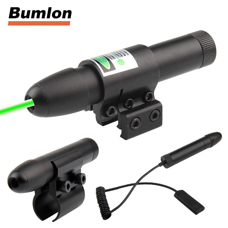 Tactical Green Laser Sight Aluminum Laser Scope for Rifle Pistol Airsoft With Two Mounts fit 11mm 3-0006G