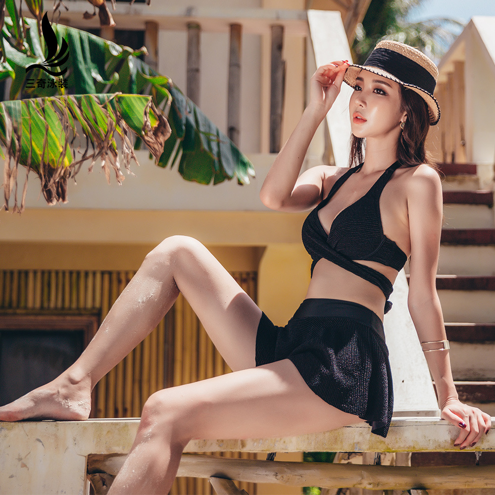 2019 Nouveau Sexy Maillots De Bain Femmes Bikini Ensemble Maillot de bain Sexy Push Up Maillot de Bain Monokini Beachwear De Natation D'été Jupe