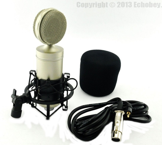 US $42 99 |Top Quality SK 999 Professional Condenser Sound Studio Recording  Wired Microphone DJ KTV Internet Karaoke Computer Recording Mic-in