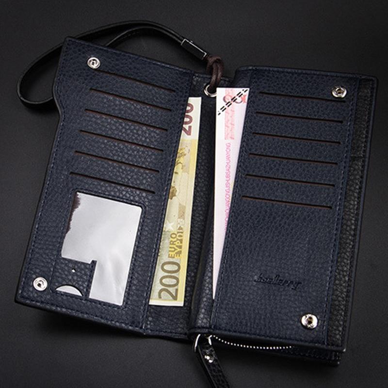 Small Wristlet Handbag Men Fashion Business Card Holder Zipper ...