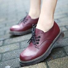 รองเท้าผู้หญิงรองเท้าO Xford 2016ฤดูใบไม้ร่วงฤดูใบไม้ร่วงของผู้หญิงแฟลตฟอร์ดรองเท้าวินเทจรอบนิ้วเท้าผู้หญิงเตี้ยอังกฤษสไตล์C Haussure Femmer