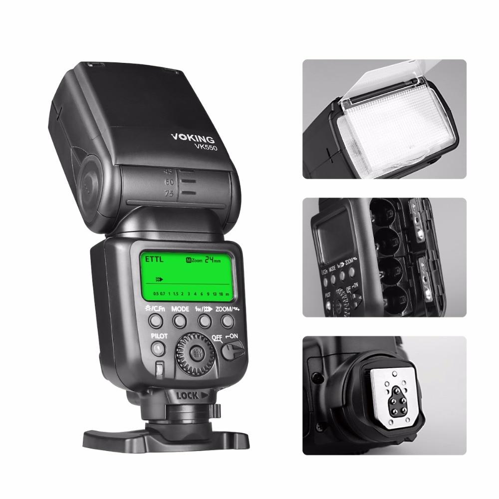 Voking VK550 ETTL Slave Mode Flash Manual LCD Display Speedlite for Canon EOS Rebel 5DS 5DSR 5S Mark IV 5D Mark III 6D 6D