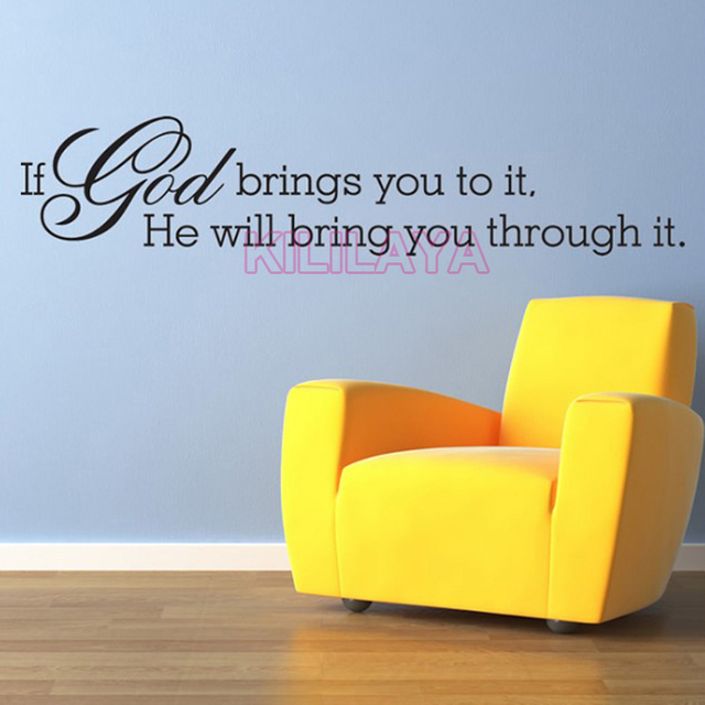 Christian If God Brings You to It Religious Vinyl Wall Sticker Decal ...