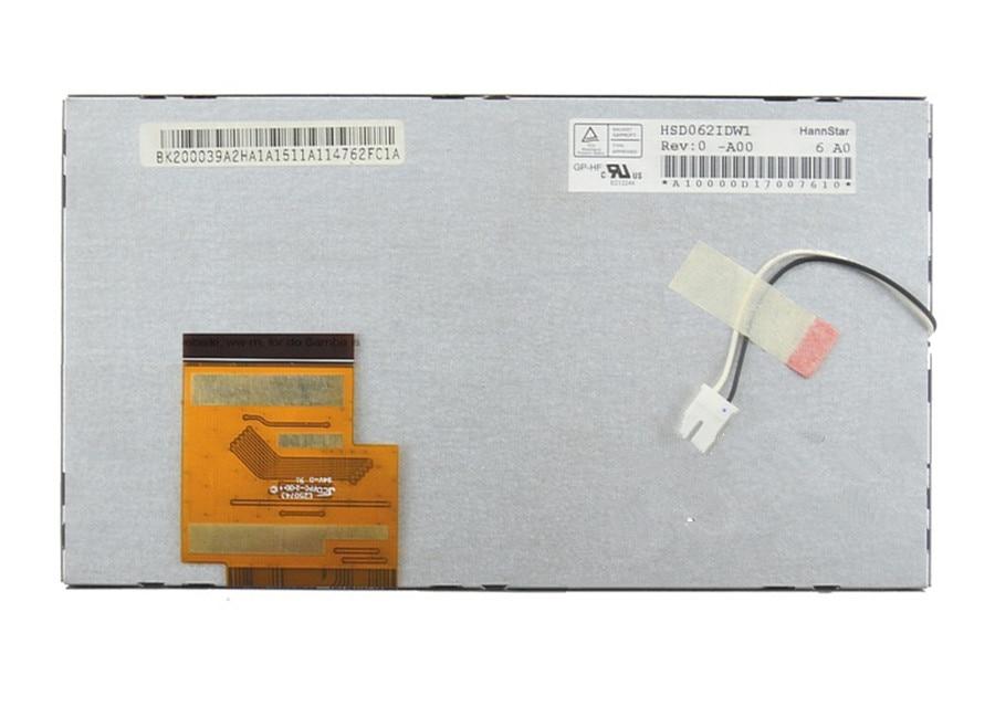 Hsd062idw1-a00 A02 Original 6.2-inch Lcd Display HSD0621DW1 Navigation Display 60 Pin 800*480 155*88 Mm