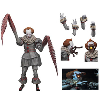 18cm With LED Original NECA 4 Heads Stephen King's It Ultimate Pennywise PVC Action Figure Collectible Toy Halloween Gift