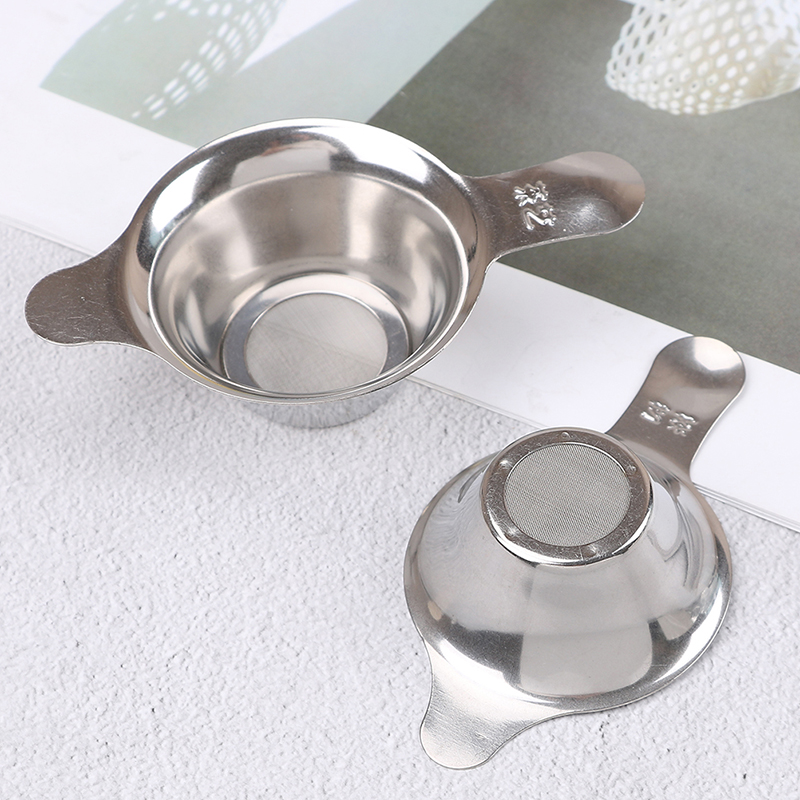 Stainless Steel Tea Filter Strainer Fine Mesh Chinese Kungfu Tea Leaf Funnel Filter Stainless Steel