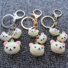 Animal Keychain-Promotional Office Gift Bell Bear Key Chain Anime Cartoon Pendant Ornaments Jewelry Bag Charms Accessories