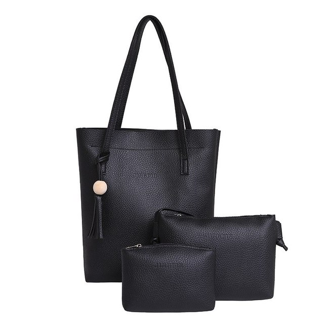 5cb6507dc91 Litthing Soft Leather Women 3pcs Handbag Set Luxury Brand 2018 Fashion Designer  Female Shoulder Bags PU Casual Bags Tote