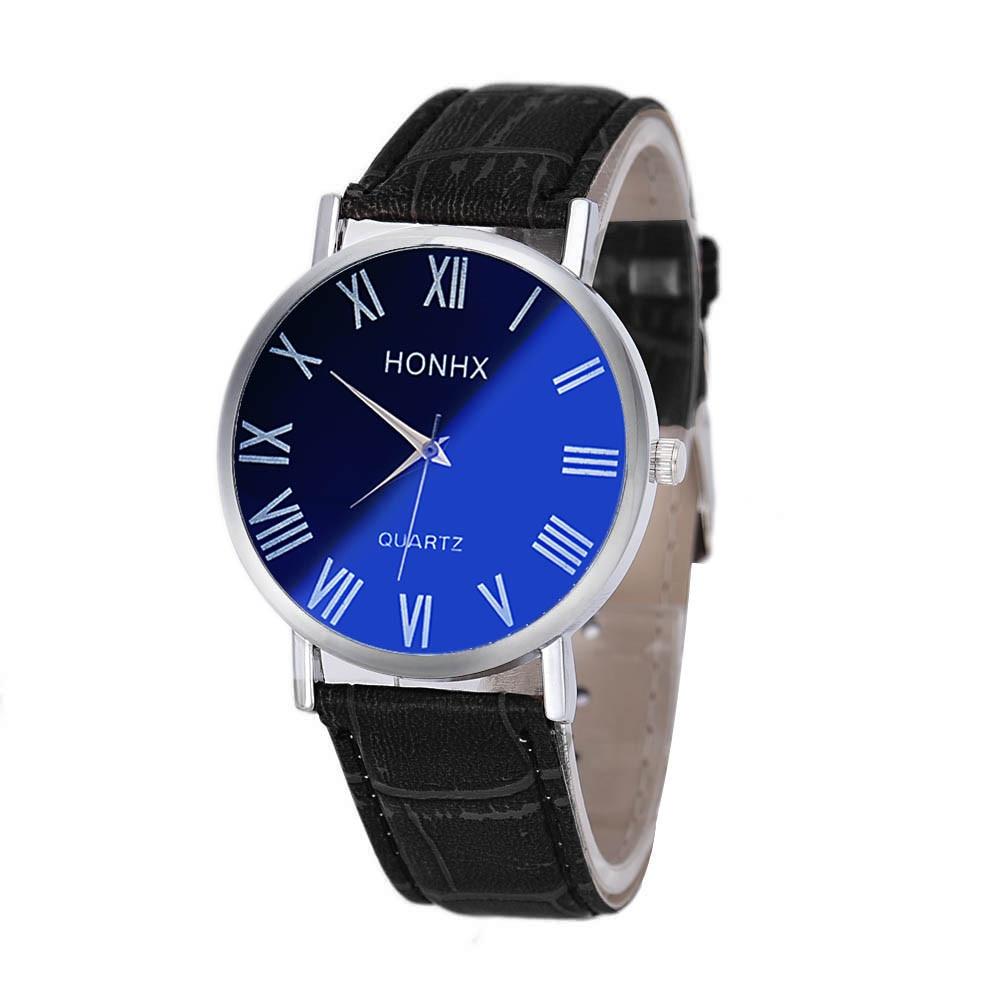 Hot Fashion <font><b>Women</b></font> Boys Mens Watches Brand Luxury Vintage Classic Big Dial Casual Sport Quartz Wrist Watches <font><b>Blu-ray</b></font> Mirror Clock