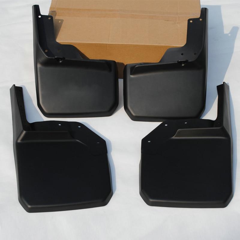 Partol 4x Black ABS Plastic Car Splash Guards Mud Flaps Set Mudguard Front Rear Left Right For Jeep Wrangler JK 2007-2015 bqlzr diy 9 1x10x5cm black plastic left
