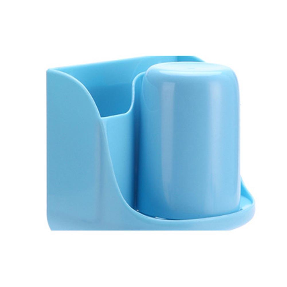 1pc Blue Toothbrush Rack Toothbrush Toothpaste Holder Bathroom Tidy ...