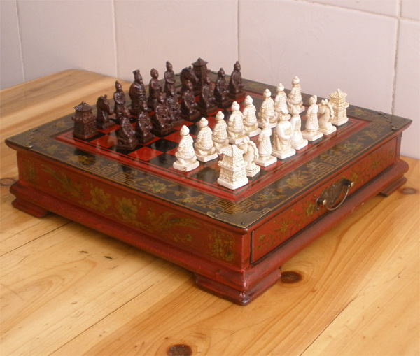 2 5kgs by DHL High end gift Antique chess Collectibles Vintage 32 chess set Terracotta Army